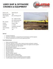 USED SHIP & OFFSHORE CRANES & EQUIPMENT