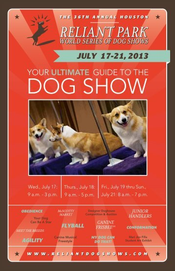 2013 Dog Show Guide - The Reliant Park World Series of Dog Shows