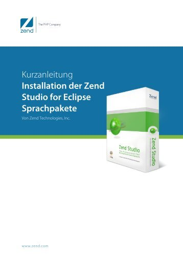 Installing Zend Studio for Eclipse Language Packs