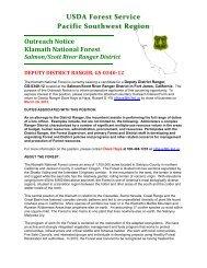 Outreach Notice Klamath National Forest Salmon/Scott River ...