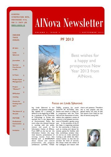 Best wishes for a happy and prosperous New Year 2013 from AINova.