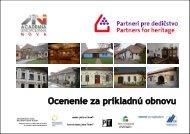 Ocenenie za príkladnú obnovu 2010 - katalóg v pdf. - Academia ...