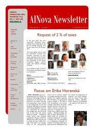 EN Newsletter 1 - Academia Istropolitana Nova