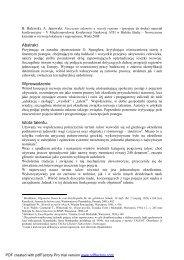 Niszczenie talentów a rozwój regionu - Andrzej Janowski