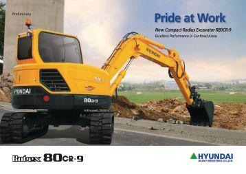 Hyundai R80CR-9 Mini Excavator Brochure