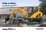 Hyundai R60-9 Mini Excavator Brochure