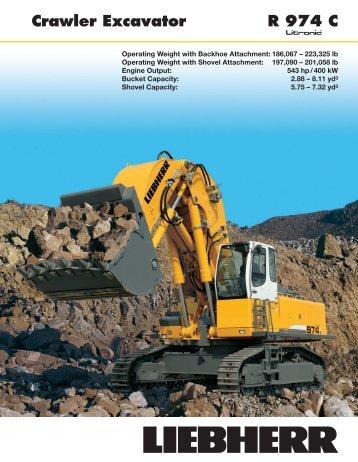 Crawler Excavator R 974 C - Lorusso Heavy Equipment