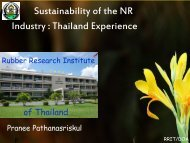 Sustainability of The NR Industry : Thailand Experience