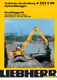 Technische Beschreibung A 954 B HD Hydraulikbagger ... - Liebherr