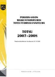 TOTSU 2007-2008 (pdf) - Pohjois-Savon liitto