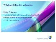 Yritykset talouden vetureina - Pohjois-Savon liitto