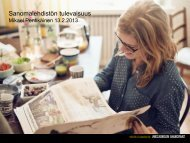 Suomalaisen sanomalehdistön tulevaisuus