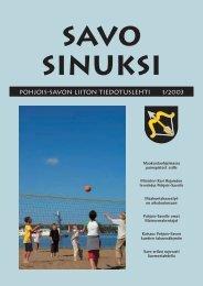 Savo Sinuksi 1/2003 - Pohjois-Savon liitto