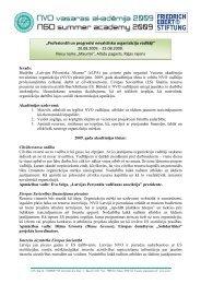 """""""Profesionāli un progresīvi nevalstisko organizāciju vadītāji"""" 20.08 ..."""