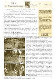 Rundbrief 24 - Assisi Verlag, Ewig Zeitschrift, Strassenkinder Brasilien