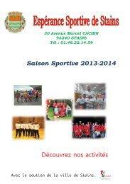 ESS saison sportive 2013-2014 - Ville de Stains