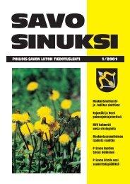 Savo Sinuksi 1/2001 - Pohjois-Savon liitto