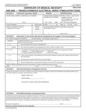 Medicare's Certificate of Medical Necessity form (.PDF ...