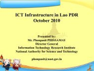 ICT Infrastructure in Lao PDR October 2010 - TEIN3