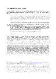 Kompetencje agentów ubezpieczeniowych jako ... - Andrzej Janowski