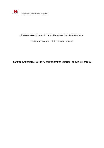 Strategija energetskog razvoja Hrvatske - Ekologija.ba