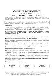 Bando di gara e disciplinare - Comune di Venetico