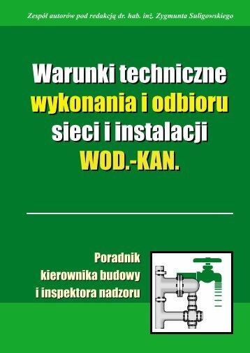 Warunki techniczne wykonania i odbioru sieci i ... - Verlag Dashofer
