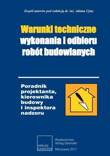 Poradnik projektanta, kierownika budowy i ... - Verlag Dashofer
