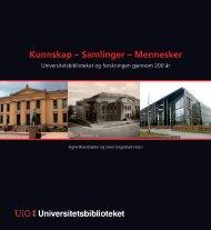 Kunnskap – Samlinger – Mennesker - Universitetsbiblioteket