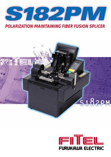 S182PM Polarization Maintaining Fiber Fusion Splicer - Photon Lines