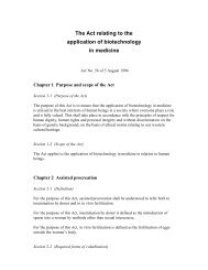 The Act relating to the application of biotechnology in medicine