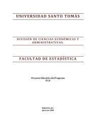 PROYECTO EDUCATIVO DEL PROGRAMA - Facultad de Estadística