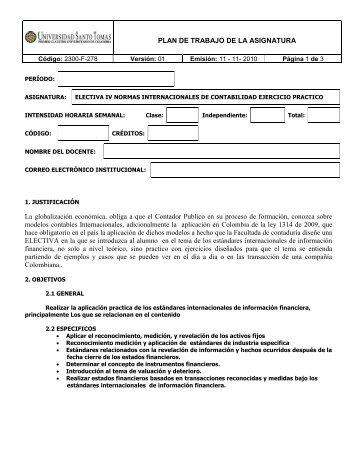 Electiva IV - Normas Internacionales de Contabilidad - Facultad de ...