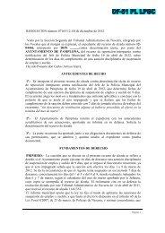TA Navarra policía cumplimiento sanción días laboral o ... - Primera