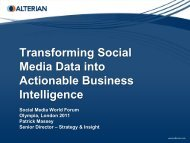 Transforming Social Media Data into Actionable Business ...