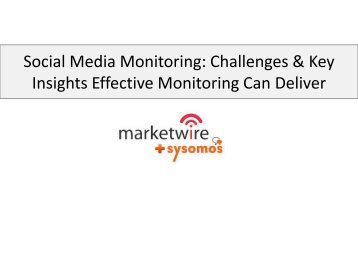 Social Media Monitoring: Challenges & Key Insights Effective ...