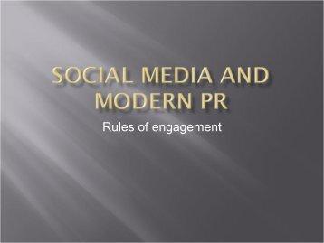 Rules of engagement - Social Media World Forum