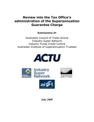 Review into the Tax Office's administration of the Superannuation ...