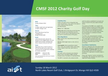 CMSF 2012 Charity Golf Day