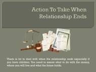 Action To Take When Relationship Ends