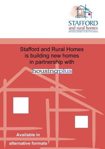 Stafford and Rural Homes is building new homes in partnership with