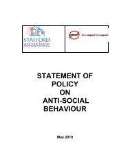 Anti Social Behaviour (ASB) Policy - Stafford and Rural Homes