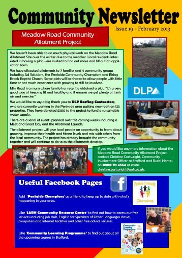 Penkside Community Newsletter - February 2013 - Stafford and ...