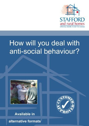 How will you deal with anti-social behaviour? - Stafford and Rural ...