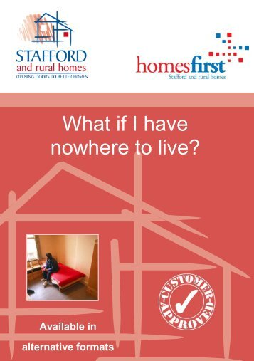 What If I have nowhere to live? (500.3kb) - Stafford and Rural Homes