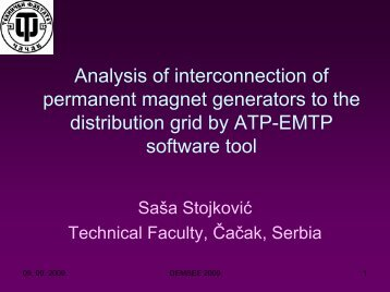 Analysis of interconnection of permanent magnet generators to the ...