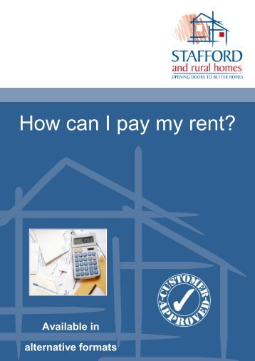 How can I pay my rent? (337.9kb) - Stafford and Rural Homes