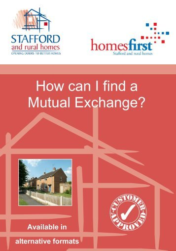 How can I find a Mutual Exchange? - Stafford and Rural Homes