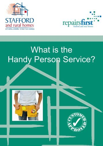 Handy Person Scheme - Stafford and Rural Homes