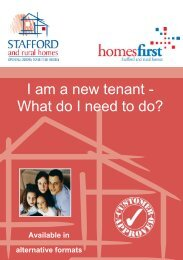 I am a new tenant - What do I need to do? - Stafford and Rural Homes